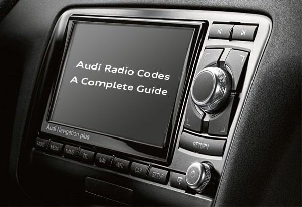 Free Audi Radio Codes