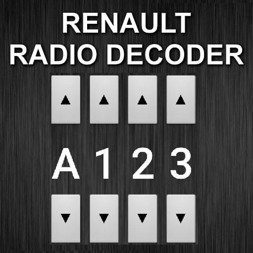 Renault Radio Code Decoder